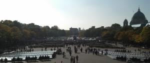 Blick vom Alexanderplatz in Richtung Brandenburger Tor