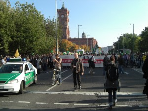 Start der Demo zum Brandenburger Tor