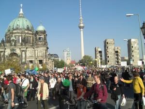 Trotzdem hatte der größte Teil der anwesenden eine friedliche Demonstration im Sinn