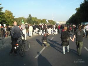 Kurz vor dem Brandenburger Tor, wo die Abschlußkundgebung stattfand